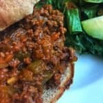 sloppy joe with salad