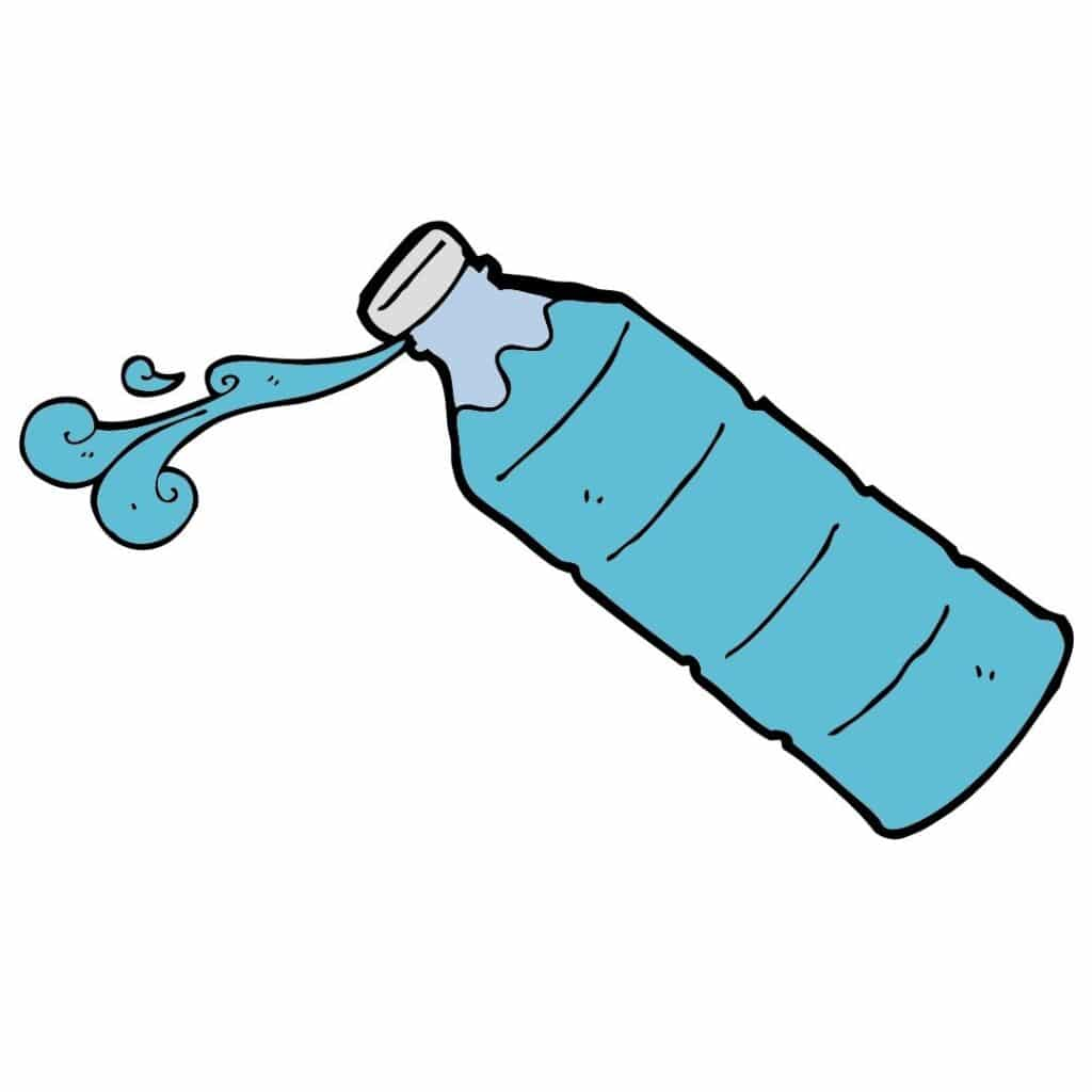 Picture of a cartoon water bottle