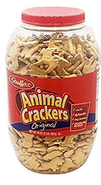Tub of animal crackers