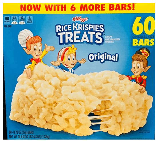 Box of rice krispie treats