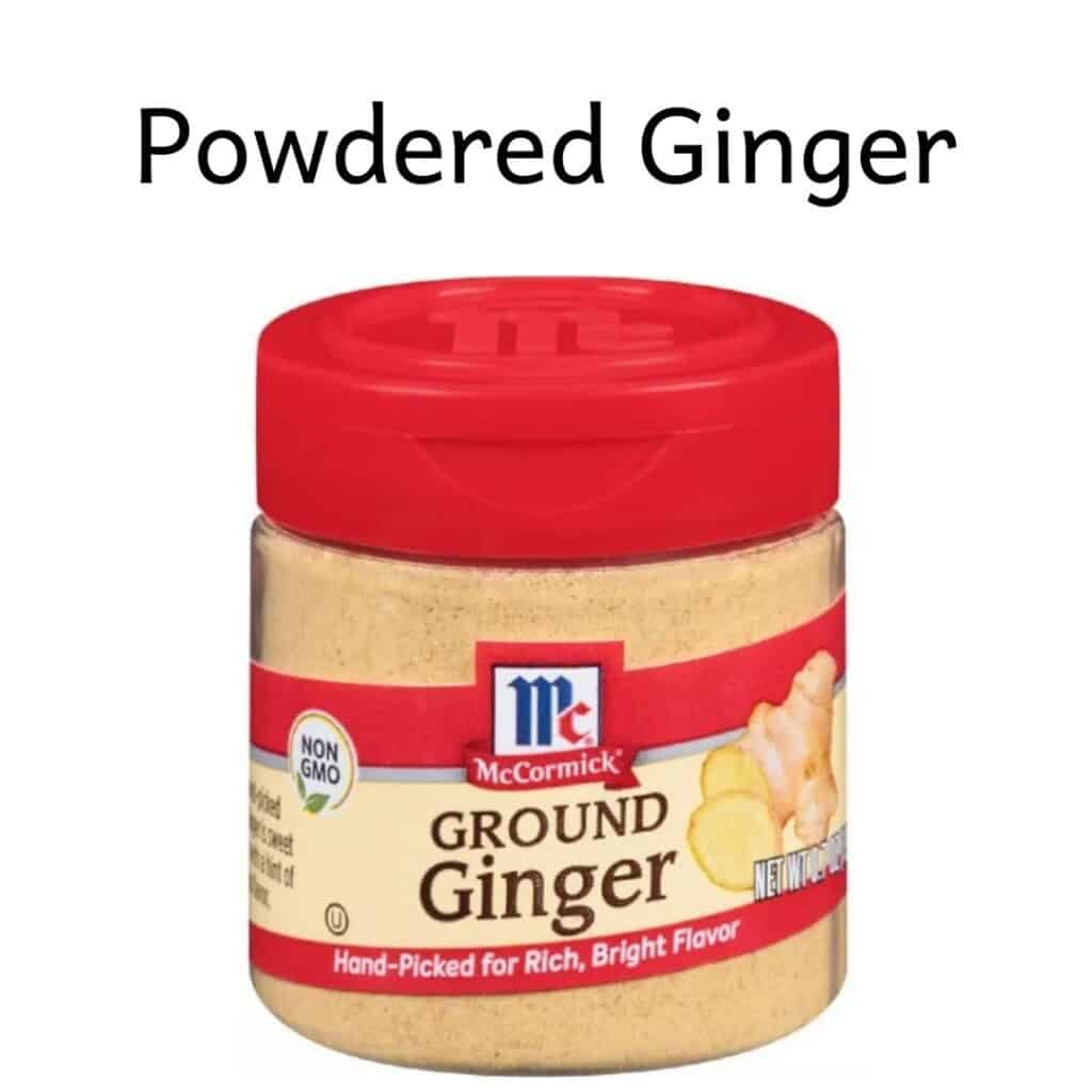 Small jar of McCormick ground ginger
